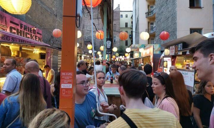matmarknad i judiska kvarteren