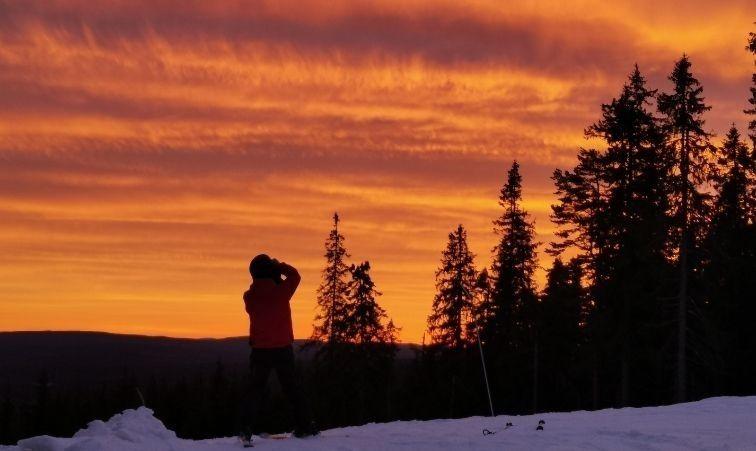 åka skidor nära stockholm